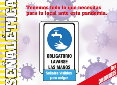 señaletica coronavirus lavarse las manos