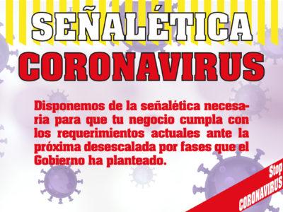 Coronavirus pandemia señalética
